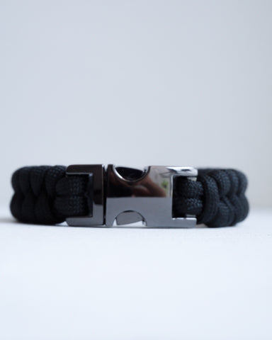 Fishtail Paracord Bracelet with Gunmetal Stainless Steel Buckle