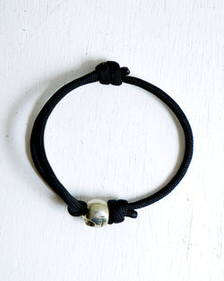 Single Strand Bracelet with Pumpkin Skull Charm