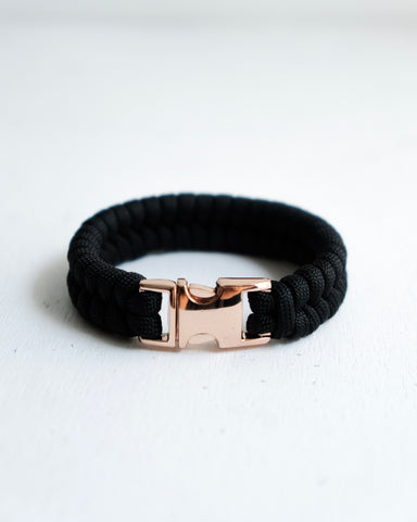 Fishtail Paracord Bracelet with Rose Gold Stainless Steel Buckle