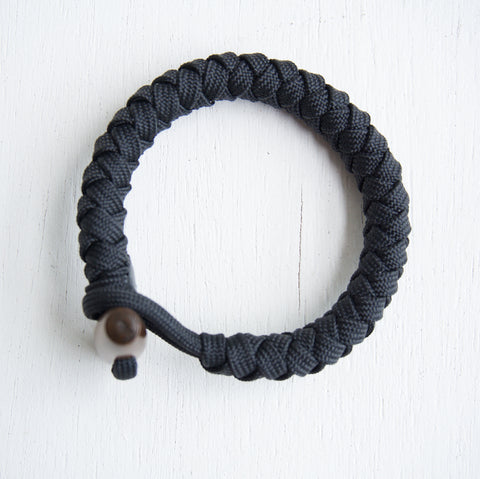 4 Strand Paracord Bracelet with wood toggle
