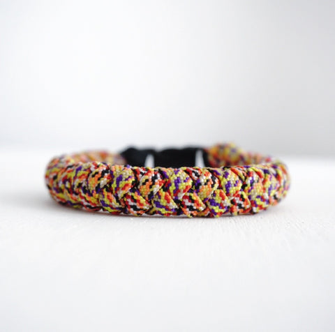4 Strand Paracord Bracelet with Multicolor Strap