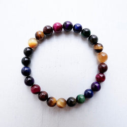 Multicolors Tiger Eye Bracelet