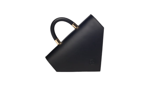 Diana Compress black leather bag