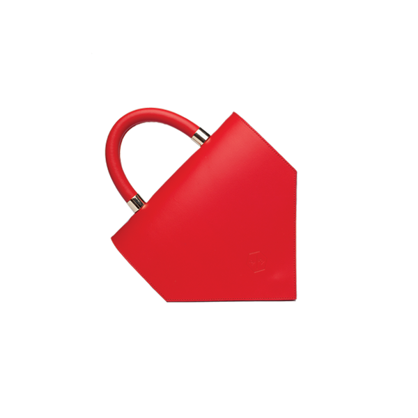 Diana red leather bag