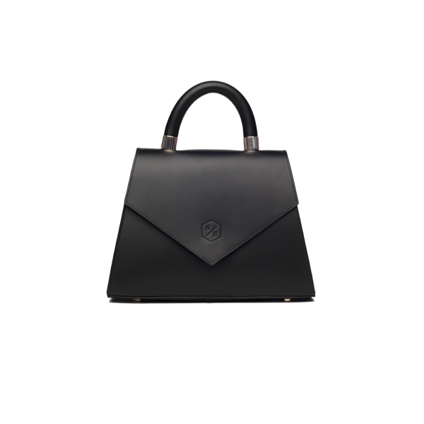Jackie black leather bag