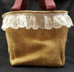 QT003 Plain Burlap with ATM University Liner - Trinkets & Things Handmade with Aloha