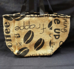 QT007 Cocoa Bean Burlap - Black liner - Trinkets & Things Handmade with Aloha