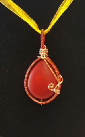 WW110 Wire Wrapped Dyed Howlite - Trinkets & Things Handmade with Aloha
