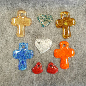 M025 Fused Glass Cross - Trinkets & Things Handmade with Aloha
