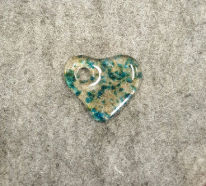 M027 Fused Glass Heart - Trinkets & Things Handmade with Aloha