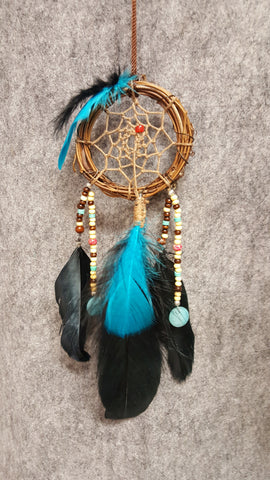 "CH089 3"" Grapevine Twig Dream Catcher - Trinkets & Things Handmade with Aloha"