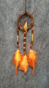 "CH094 3"" Grapevine Twig Dream Catcher - Trinkets & Things Handmade with Aloha"