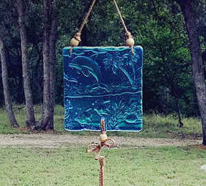 CH107 Fused Glass Wind Chime - Trinkets & Things Handmade with Aloha