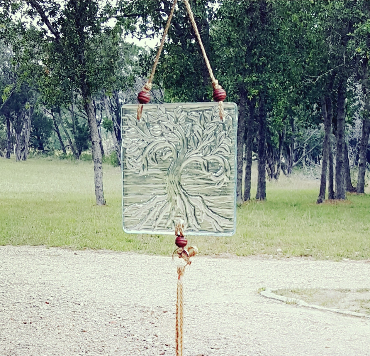 CH111 Fused Glass Wind Chime - Trinkets & Things Handmade with Aloha