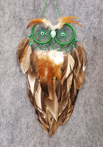 CH117 Owl Dream Catcher - Trinkets & Things Handmade with Aloha