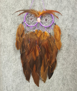 CH119 Owl Dream Catcher - Trinkets & Things Handmade with Aloha