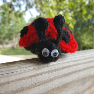 CC030 Winged Red Lady Bug - Small - Trinkets & Things Handmade with Aloha