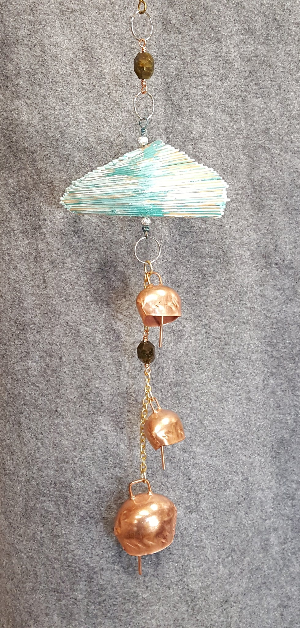 CH137 Wood Spiral Wind Chime - Trinkets & Things Handmade with Aloha