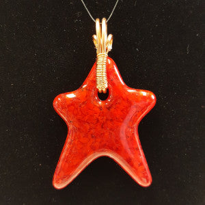 WW206 Fused Glass Star - Trinkets & Things Handmade with Aloha