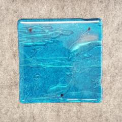 M096 Fused Glass Slabs Sea Scape - Trinkets & Things Handmade with Aloha