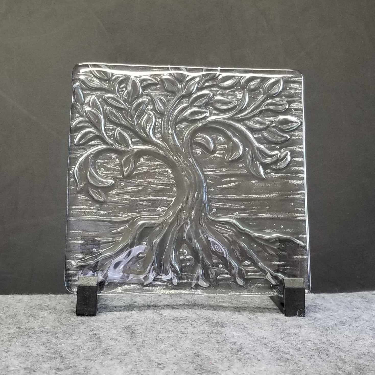 M102 Fused Glass Slabs Tree of Life - Trinkets & Things Handmade with Aloha