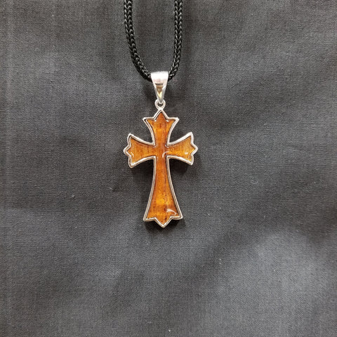 Koa Roman Cross - Trinkets & Things Handmade with Aloha