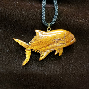 Koa Wood Pendant - Ulua - Trinkets & Things Handmade with Aloha