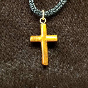 Koa Wood Pendant - Mini Cross - Trinkets & Things Handmade with Aloha