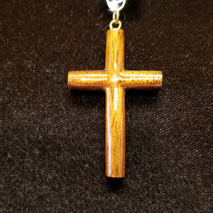 Koa Wood Pendant - Small Cross - Trinkets & Things Handmade with Aloha