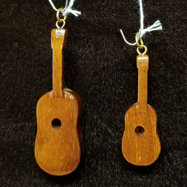Koa Wood Pendant - Small Ukulele - Trinkets & Things Handmade with Aloha