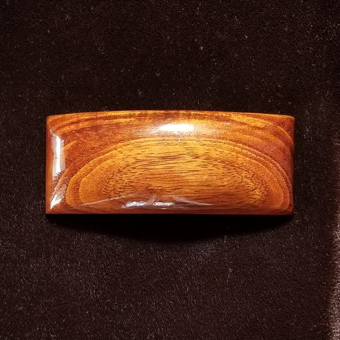 Koa Wood Rectangle Hair Clip - Trinkets & Things Handmade with Aloha