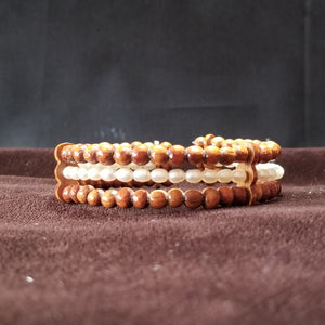 Koa Wood and Fresh Water Pearl Cuff Bracelet - Trinkets & Things Handmade with Aloha