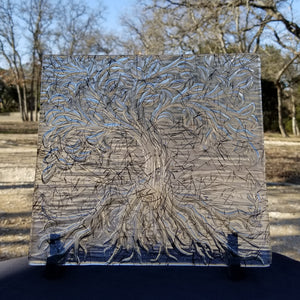 M131 Fused Glass Slabs Large Tree of Life - Trinkets & Things Handmade with Aloha