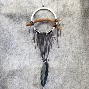 "CH068 4"" White Frame Dream Catcher - Trinkets & Things Handmade with Aloha"