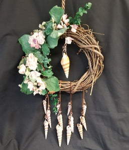 CH141 Grapevine Wreath with Rose Swag - Trinkets & Things Handmade with Aloha