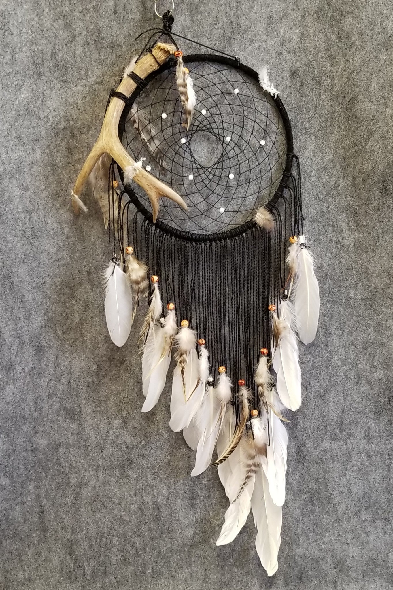DC192 Dream Catcher - Deer Antler - Trinkets & Things Handmade with Aloha
