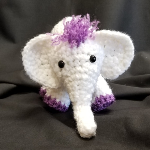 CC038 Crochet Elephant - Trinkets & Things Handmade with Aloha