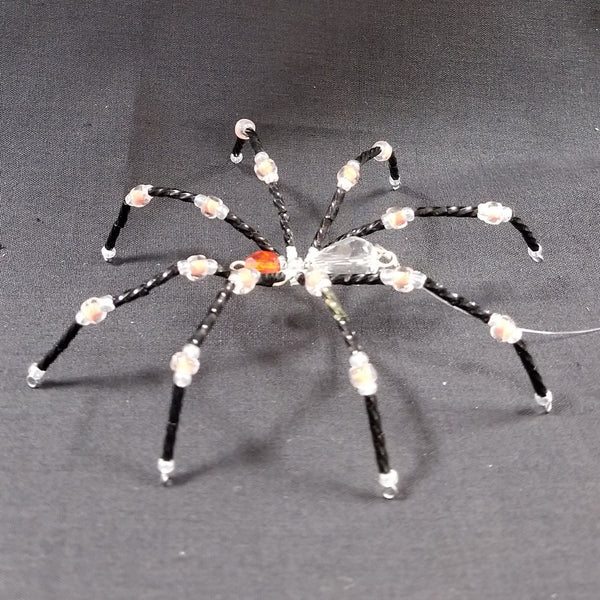 M156 Beaded Christmas Spider - Trinkets & Things Handmade with Aloha