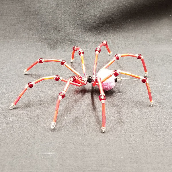M152 Beaded Christmas Spider - Trinkets & Things Handmade with Aloha