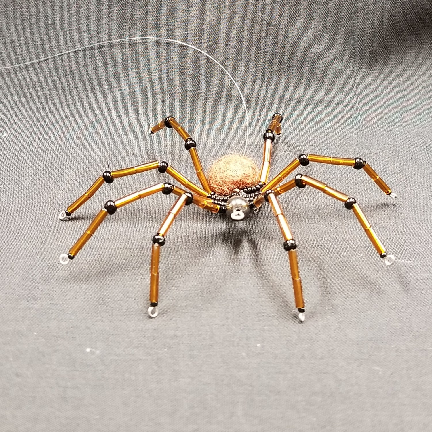 M151 Beaded Christmas Spider - Trinkets & Things Handmade with Aloha