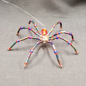 M148 Beaded Christmas Spider - Trinkets & Things Handmade with Aloha