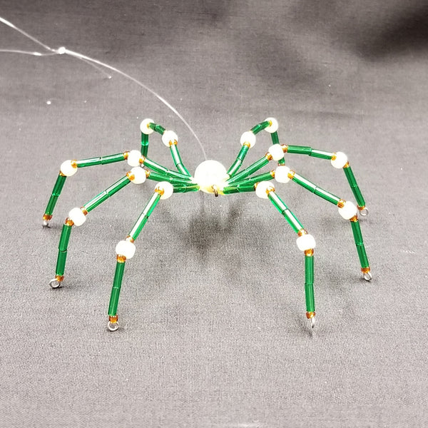 M147 Beaded Christmas Spider - Trinkets & Things Handmade with Aloha