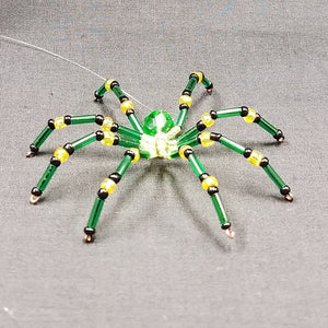M144 Beaded Christmas Spider - Trinkets & Things Handmade with Aloha