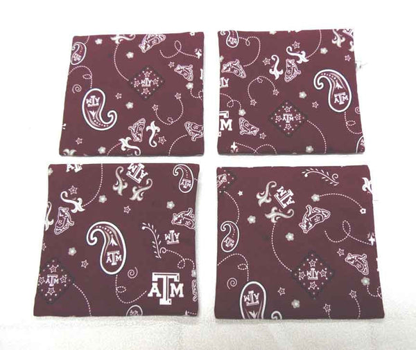 QT017 Texas A & M University Coin Purse - Trinkets & Things Handmade with Aloha
