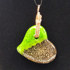 WW180 Wire Wrapped Fused Glass - Trinkets & Things Handmade with Aloha