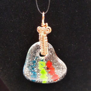 WW183 Wire Wrapped Fused Glass - Trinkets & Things Handmade with Aloha