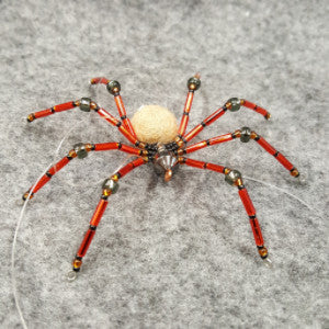 M063 Beaded Christmas Spider - Trinkets & Things Handmade with Aloha