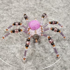 M064 Beaded Christmas Spider - Trinkets & Things Handmade with Aloha