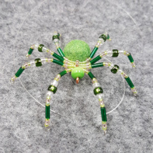 M066 Beaded Christmas Spider - Trinkets & Things Handmade with Aloha