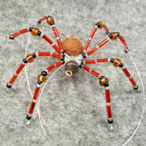 M067 Beaded Christmas Spider - Trinkets & Things Handmade with Aloha